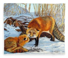 Natures Submission Fleece Blanket