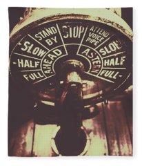 Nautical Engine Room Telegraph Fleece Blanket