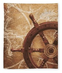 Nautical Exploration  Fleece Blanket