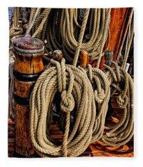 Nautical Knots 17 Oil Fleece Blanket