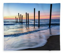 Nautical Morning Fleece Blanket
