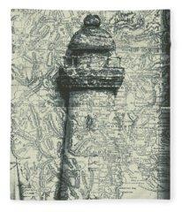 Nautical Way Fleece Blanket