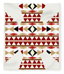 Navajo White Pattern Art Fleece Blanket