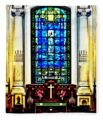 Naval Academy Chapel Fleece Blanket
