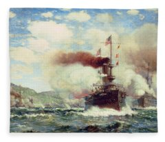 Naval Battle Explosion Fleece Blanket
