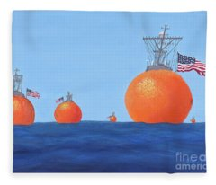 Naval Oranges Fleece Blanket