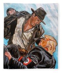 Nazis. I Hate Those Guys. Fleece Blanket