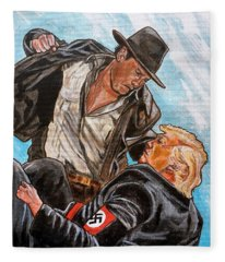 Nazis. I Hate Those Guys. Fleece Blanket
