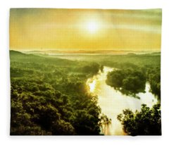 Near Table Rock Lake Fleece Blanket