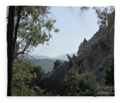 Near The Castle In Lanjaron Fleece Blanket
