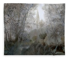 Nebbia Nel Bosco Fleece Blanket