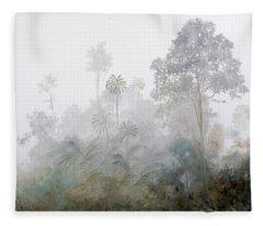 Nebbia Nella Foresta Fleece Blanket