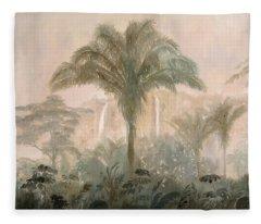 Nebbia Nella Jungla Fleece Blanket