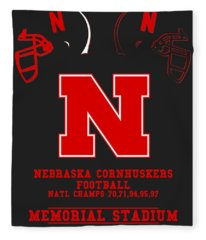 Nebraska Cornhuskers 2 Fleece Blanket