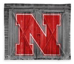 Nebraska Cornhuskers Barn Doors Fleece Blanket