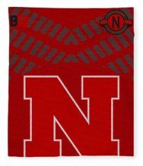 Nebraska Cornhuskers Uniform 2 Fleece Blanket