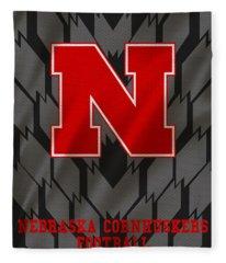 Nebraska Cornhuskers Uniform 3 Fleece Blanket