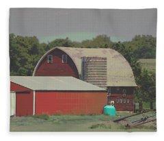Nebraska Farm Life - The Family Farm Fleece Blanket
