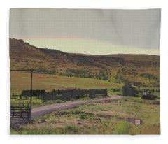 Nebraska Farm Life - The Paddock Fleece Blanket