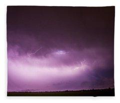 Nebraska Night Thunderstorms 013 Fleece Blanket