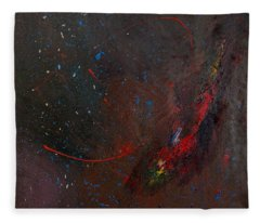 Fleece Blanket featuring the painting Nebula by Michael Lucarelli