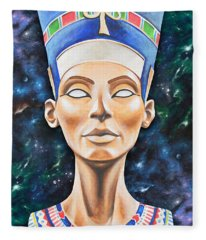 Nefertiti Fleece Blanket