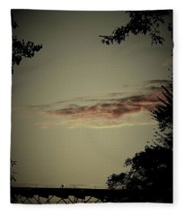 Negative Space Fleece Blanket