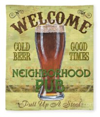 Neighborhood Pub Fleece Blanket