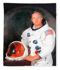 Neil Armstrong Fleece Blanket