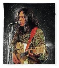 Neil Young Fleece Blanket