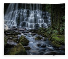 Nelson Falls Fleece Blanket