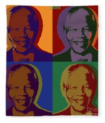 Nelson Mandela Pop Art Fleece Blanket