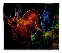 Neon Buck Fleece Blanket