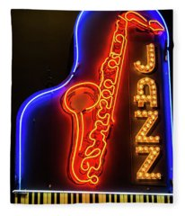 Neon Jazz Fleece Blanket