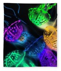 Neon Sea Life Fleece Blanket
