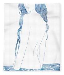 Nereid L Fleece Blanket