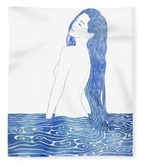 Nereid Xliii Fleece Blanket