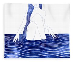 Nereid Xxxiii Fleece Blanket