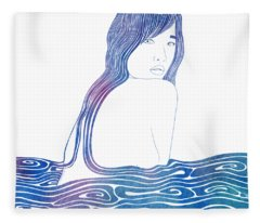 Nereid Xxxix Fleece Blanket