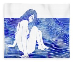 Nereid Xxxv Fleece Blanket