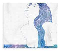 Nereid Xxxvii Fleece Blanket