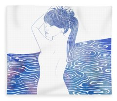 Nereid Xxxviii Fleece Blanket