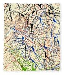 Nerve Cells Santiago Ramon Y Cajal Fleece Blanket