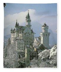 Neuschwanstein  Fleece Blanket