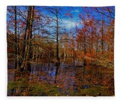 Neuse River Backwater Fleece Blanket