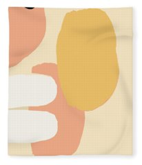 Fleece Blanket featuring the painting Neutral Abstract by Cortney Herron