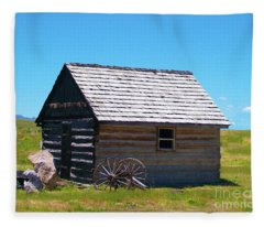 Nevada Log Cabin Fleece Blanket