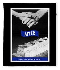 Never Give A Germ A Break Fleece Blanket