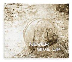 Never Give Up Hebrews Chapter 11 Fleece Blanket