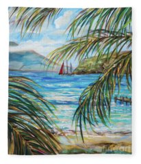 Nevis In The Distance Fleece Blanket